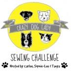 crazy dog lady med badge