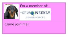 Sew Weekly Sewing Circle badge