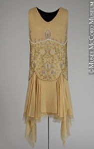 original 20's hankie-hem dress
