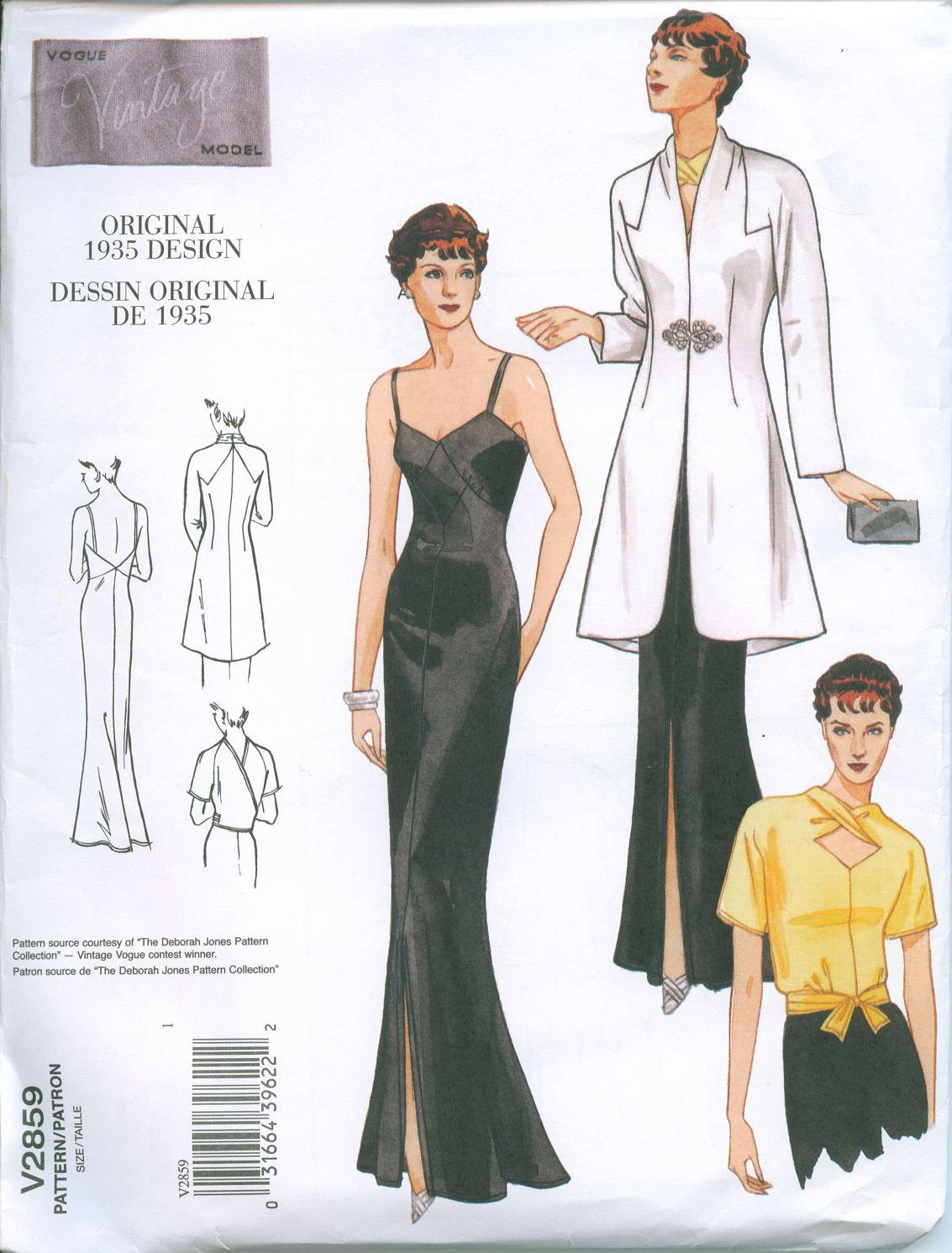 Vogue Blouse Pattern Vintage 50