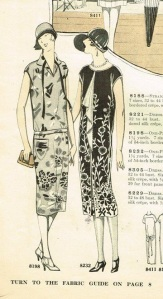 1926 vertical jabot dress pattern ad-cropped
