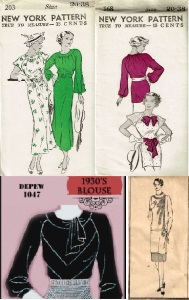 30s tunic top inspiration pattern combo