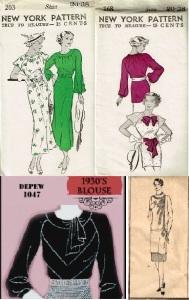 30s tunic top inspiration pattern combo
