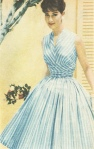 50s blue stripe dress
