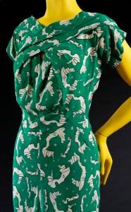Evening-dress-1939-Charles-James-dress, Jean-Cocteau-textile, printed-silk