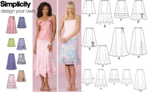 Simplicity 4138 back line and front drawing