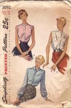 Simplicity3092 blouses fm 1949