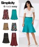 Simplicity4365 godet skirts