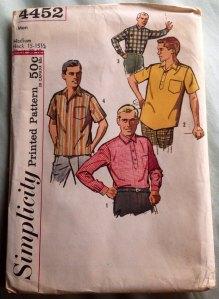 Simplicity 4452 mens 1953 shirts