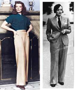 Hepburn and Dietritch in pants