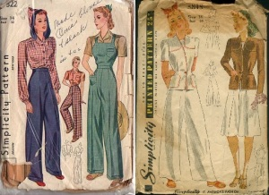 Simplicity 322 & 3848 pants patterns combo