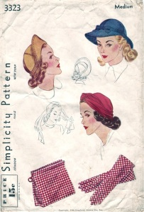 Simplicity 3323 'accessories to match your costume' yr 1940