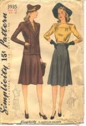 Simplicity 3935 yr 1941 original envelope