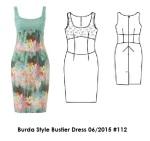 Burda Style Bustier Dress 6-2015 #112
