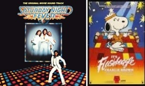 Saturday Night Fever Movie Soundtrack record cover&Flashbeagle VHS cover