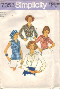 Simplicity 7353 yr 1976 pattern from my M-I-L