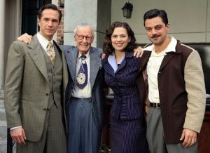 Agent Carter Cast with Stan Lee