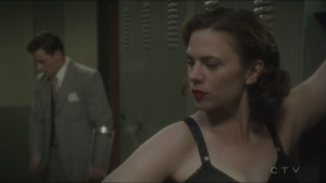 Agent Sousa catches Peggy changing