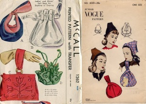 40s purses combo #1262mcall & 1945 Vogue #3029