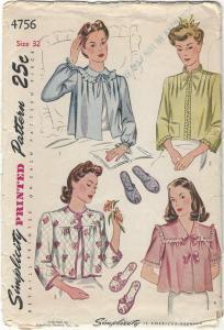 Grandma's bed jacket pattern-comp