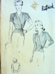 Butterick 2139, 1940's wrap side tie blouses