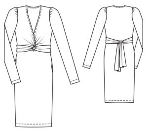 knotted_dress_drawing Sept 2013-cropped