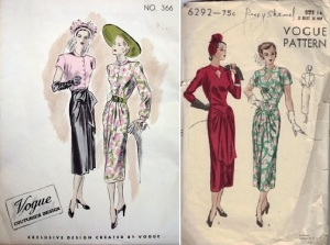 Vogue Couturier #366, late 1940's & Vogue 6292, early 1948