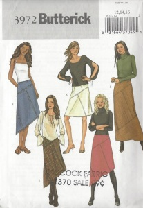 Butterick 3972, multi panel skirts-front cover-comp