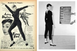 Funny Face poster 1957 - Audrey Hepburn's costume test for 'Sabrina' from 7-21-1953
