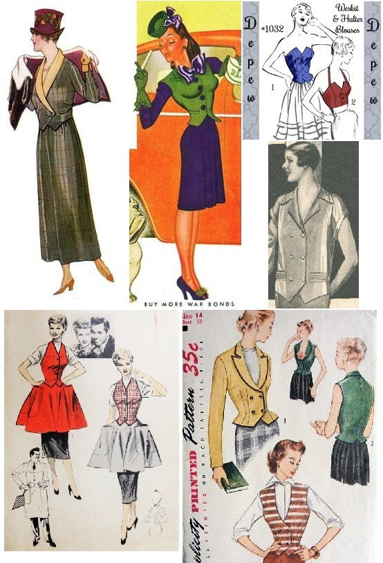 waistcoat & weskit history collage