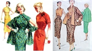 1447butterick, vintage oriental dress & McCall's 9113 50's suit set