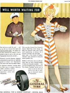 Aug. 21, 1943 ad for General Tire in the Saturday Evening Post