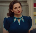 Season Two - cropped pic of Peggy's 'trio of triangular cut outs' dress