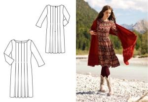Burda Style Ikat Dress 108A 10-2012