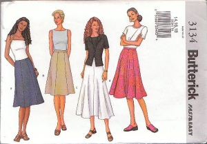 Butterick 3134 year 2001 cover