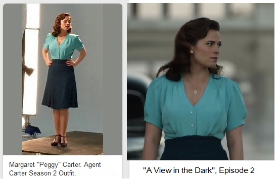 Peggy's outfit - model trial photos and blouse close up