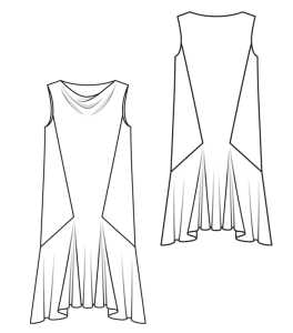 102 tango dress line drawing