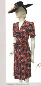 'Forties Fashion' pg. 26, 1939 floral dress,comp