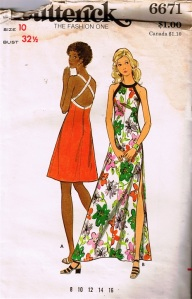 Butterick 6671, August 1971, junior's-comp