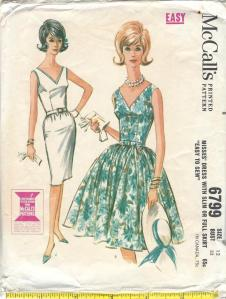 McCall 6799, year 1963 envelope cover-comp