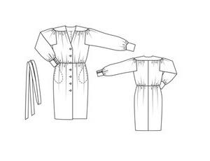 long-sleeve-dress-no-104-01-2011-line-drawing