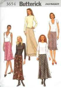 butterick-3654-year-2002-bias-flounce-hem-skirts