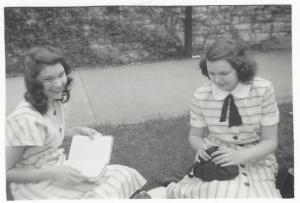 Betty and Peg Braden - 1948, smaller pic