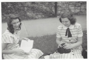 Betty and Peg Braden - 1948, smaller pic