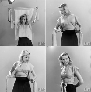 1945 LIFE magazine aricle on wrapped clothing to make yourself