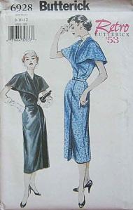 Butterick 6928, year 2000 reprint of a '53 pattern