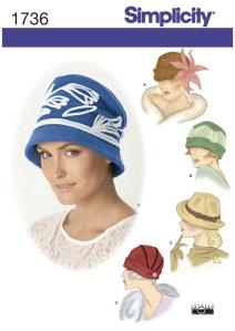 Simplicity 1736, year 2012 hats